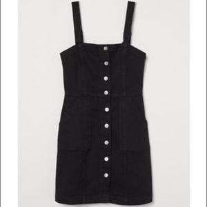 H&M Fitted Overall Denim Dress
